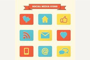 Social media icons set.
