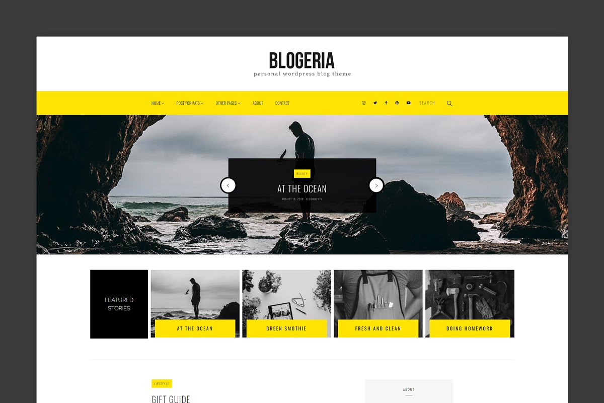 Blogeria - Personal WordPress Blog