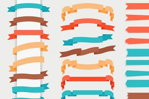 Vector flat ribbons