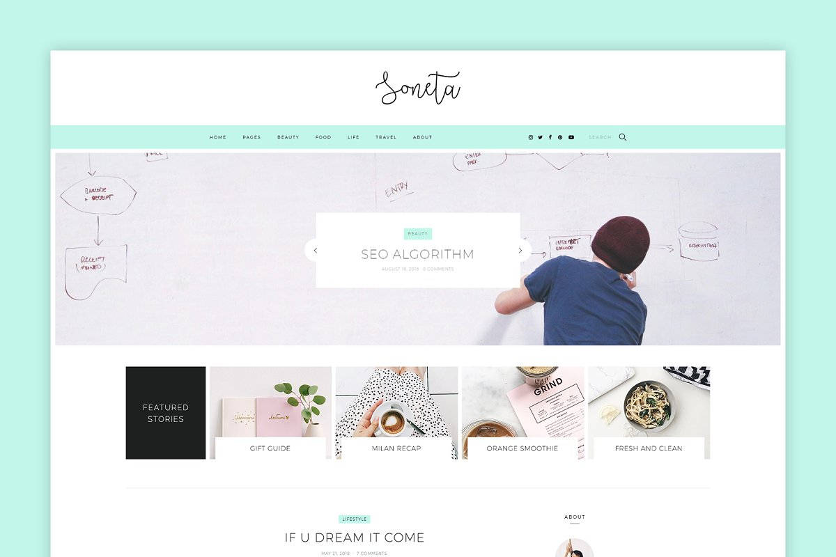 Soneta - Feminine WordPress Blog