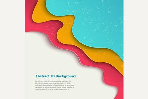 Abstract 3d vector background.