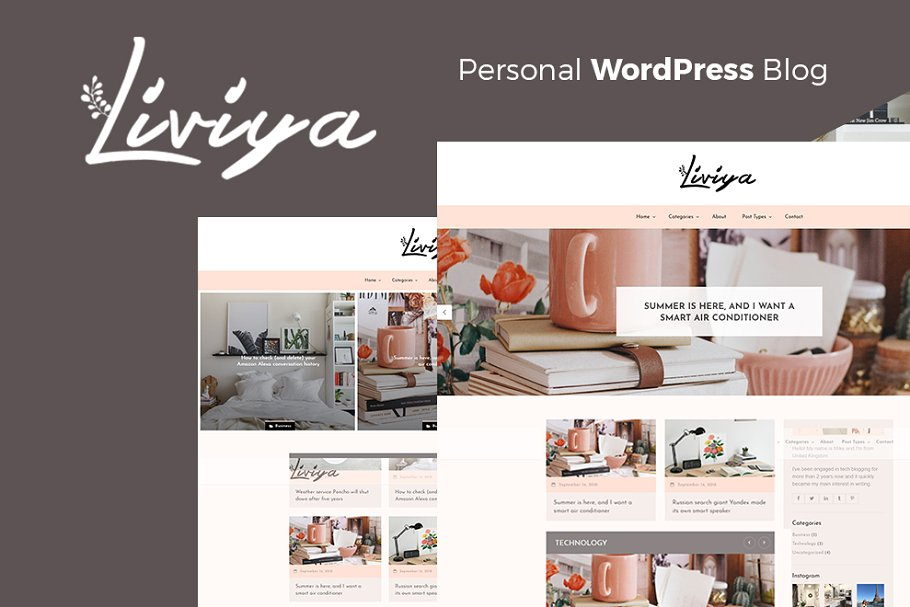 Liviya - Feminine WordPress Theme