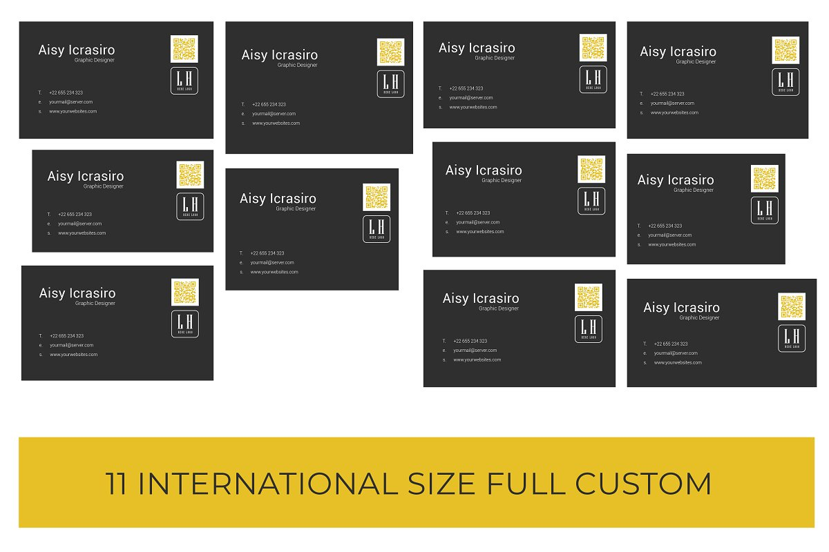Business Card Minimal 11 Size Full