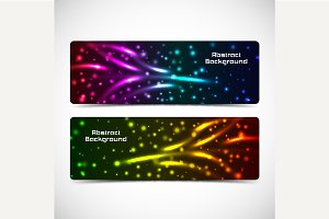 Abstract vector banners set.