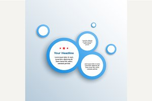 Abstract web design bubble, vector.
