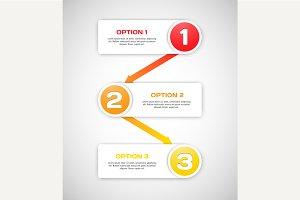 One two three - vector progress step