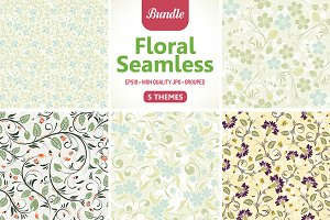 Flower Seamless Patterns