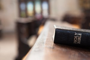 Holy Bible in the church