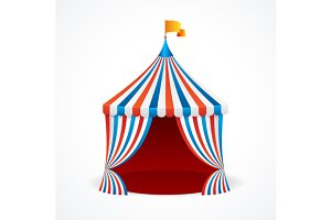 Circus Tent. Vector