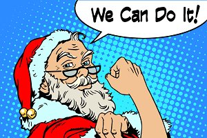 Santa Claus we can do it power