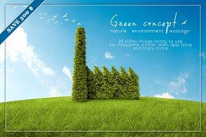 GREEN Concept illustration bundle