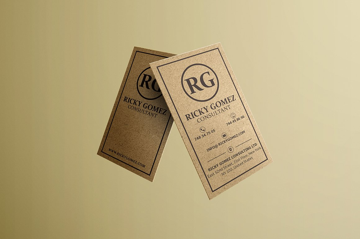 Kraft Paper Minimal Business Card ~ Business Card Templates ...