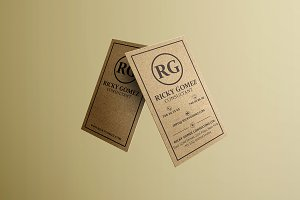 Kraft Paper Minimal Business Card