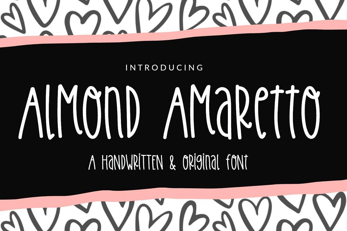 Almond Amaretto Handwritten Font