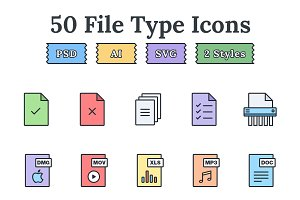 File types & documents landing icons