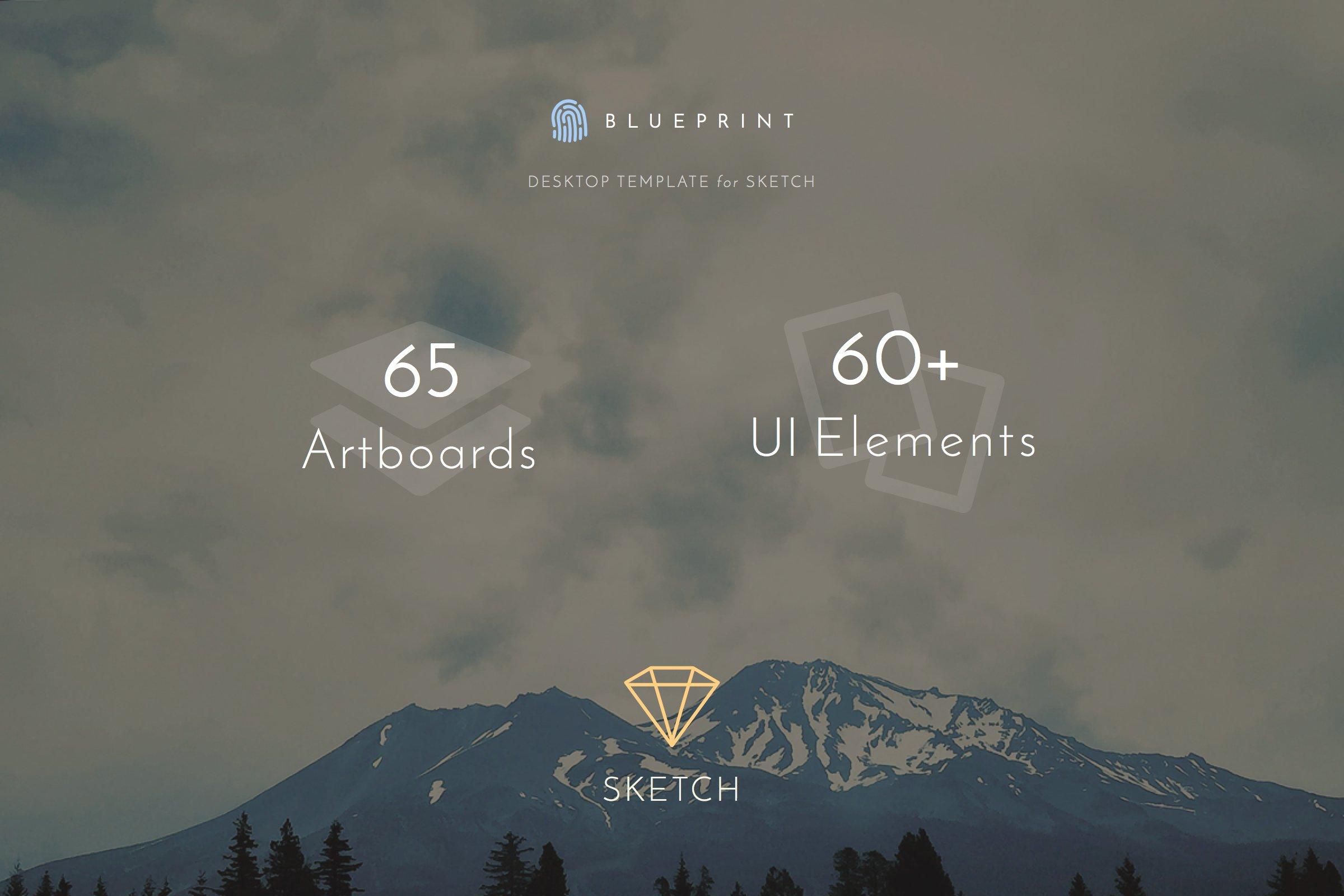 Blueprint ui template for sketch web elements creative market malvernweather Choice Image