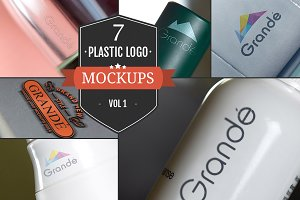 7 Awesome Plastic Logo Mockups Vol.1