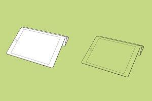 Apple iPad Air 2 horizontal position