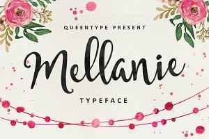 Mellanie Typeface