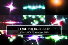 Light Flare PSD Backdrop
