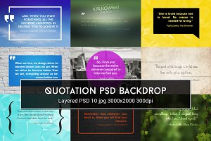 Quotation PSD Backdrop