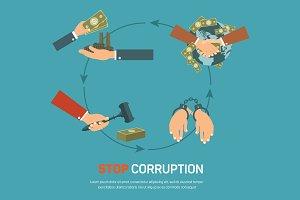 Corruption infographic banner