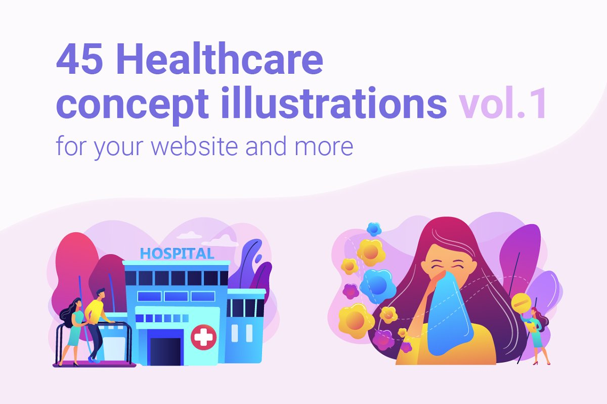 Healthcare concept illustrations