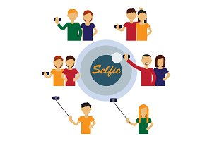 Selfie avatars of people