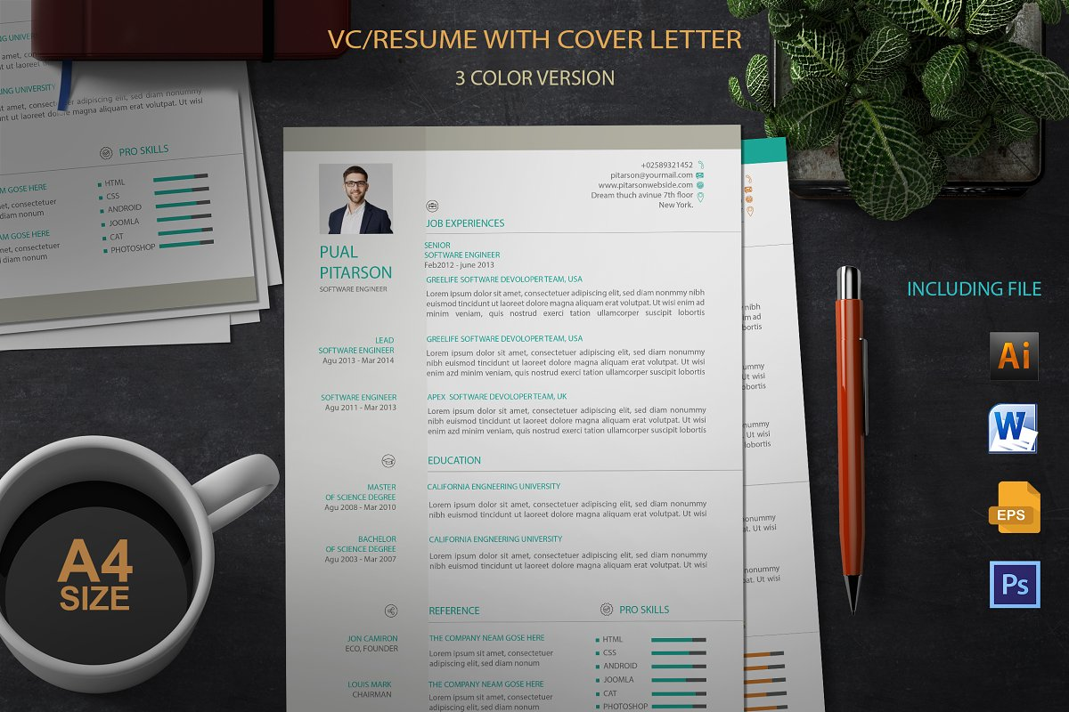 Resume With Cover Latter Template