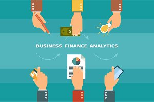Finance and business infographic