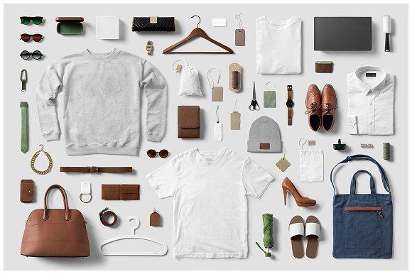 Clothing Fashion T Shirt Mockup Creative Branding Mockups