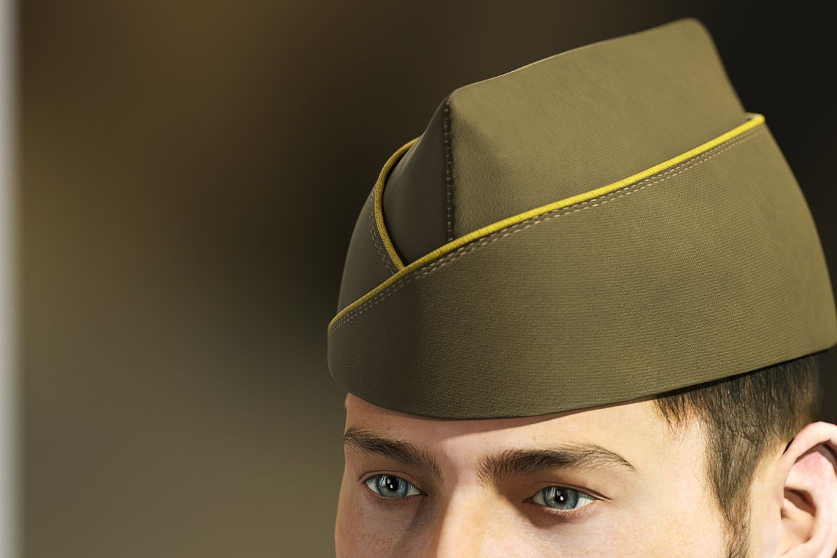 Military side garrison cap infantry