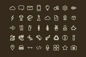 Bizzare Icon Set - 103 Vector Icons