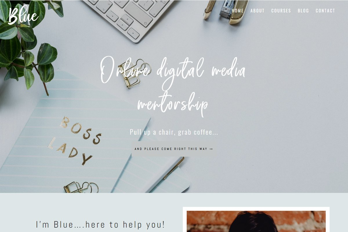 Blue Divi Child theme for business in WordPress Business Themes - product preview 8