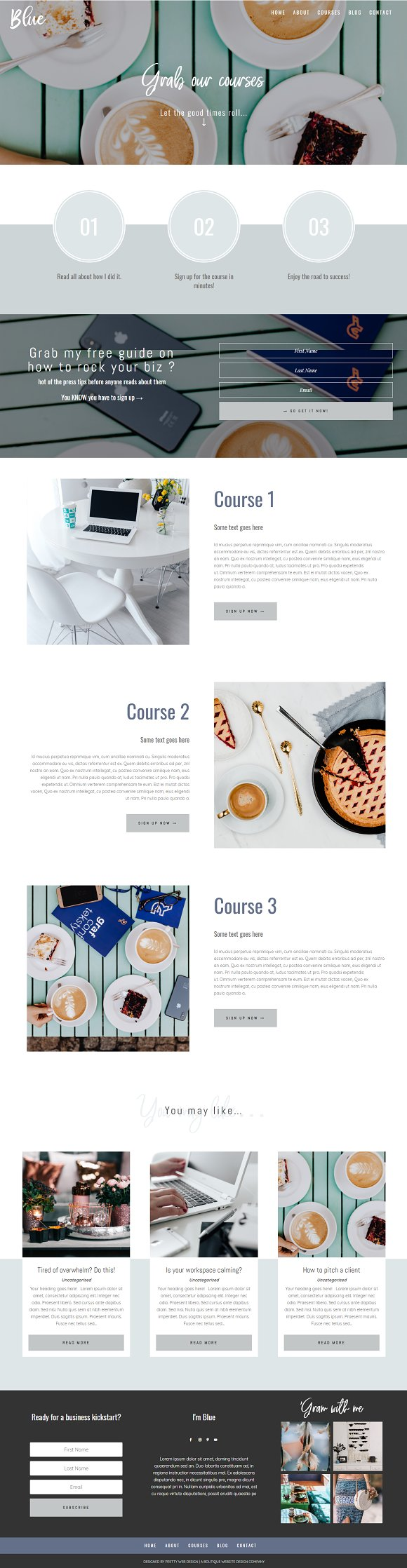 Blue Divi Child theme for business in WordPress Business Themes - product preview 1
