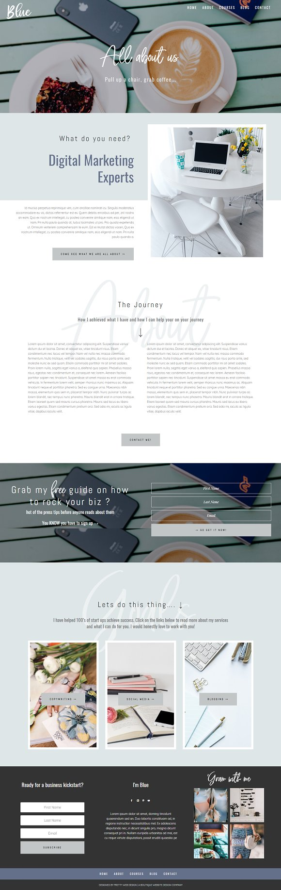 Blue Divi Child theme for business in WordPress Business Themes - product preview 2