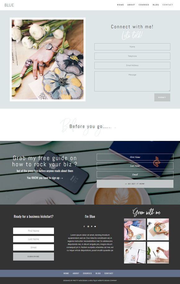Blue Divi Child theme for business in WordPress Business Themes - product preview 4