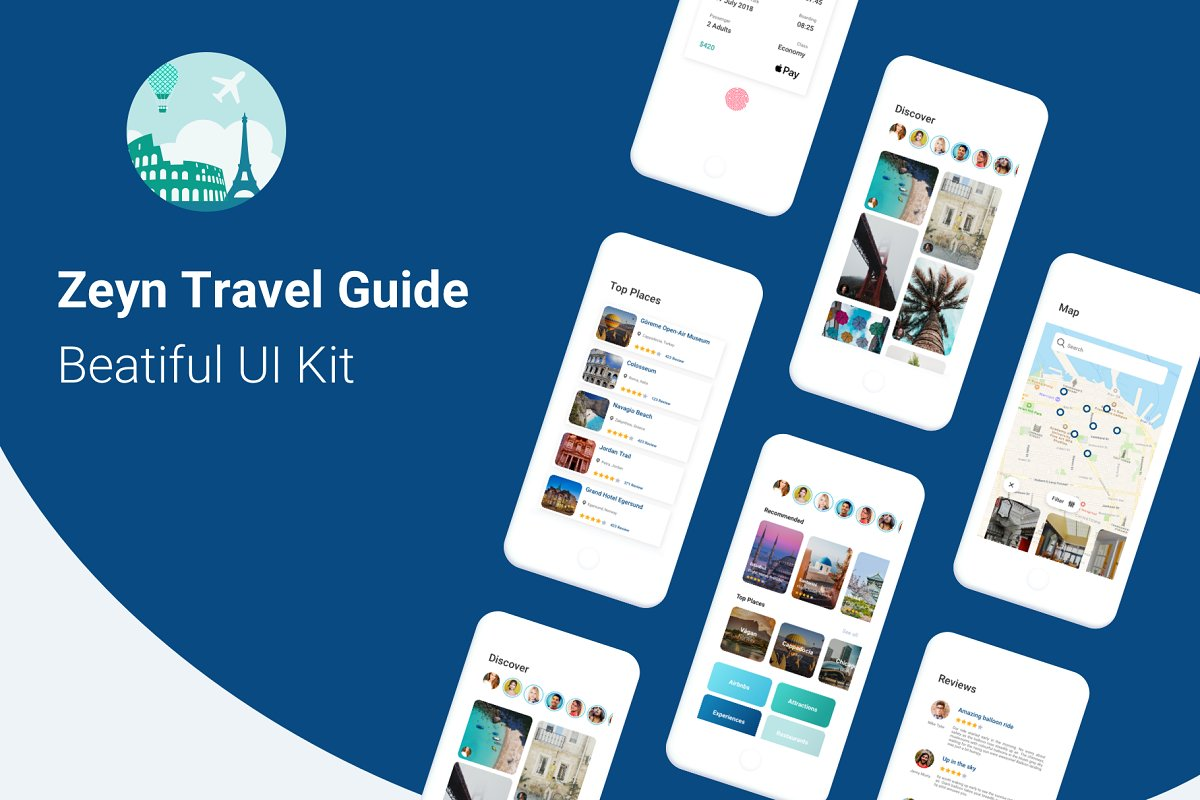 Zeyn Travel Guide UI Kit