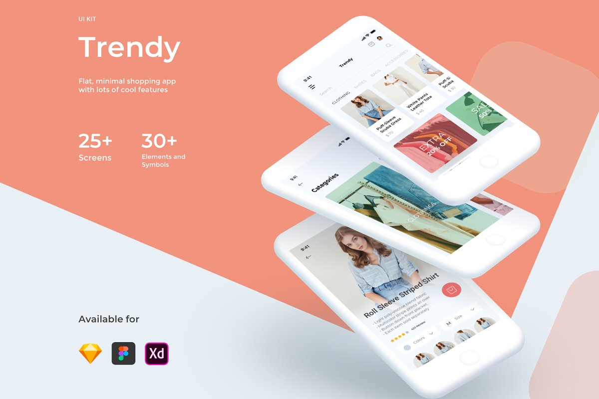 Trendy Shopping eCommerce UI/UX KIT