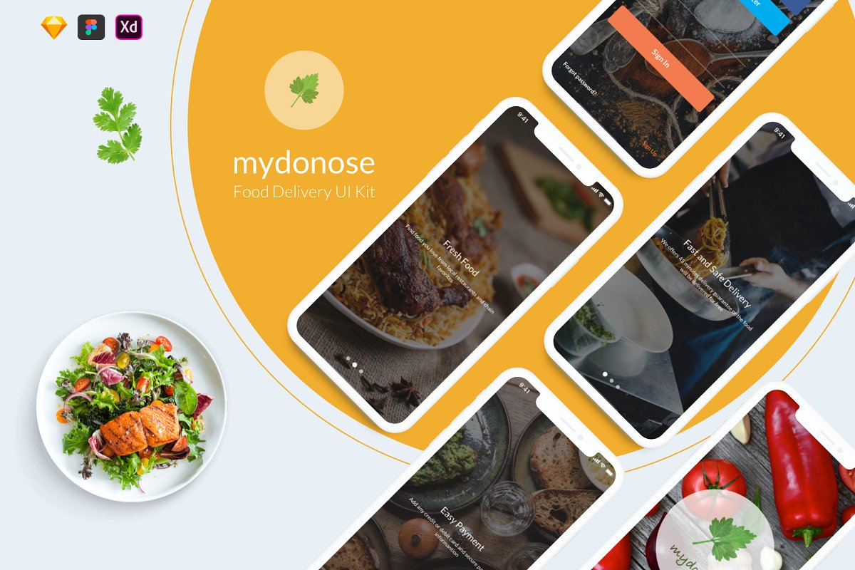 Mydonose Food Delivery UI Kit