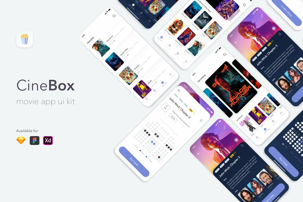 CineBox Movie App UI UX Kit