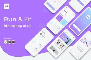 Run&Fit Fitness App UI Kit