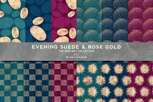 Evening Suede & Rose Gold Patterns