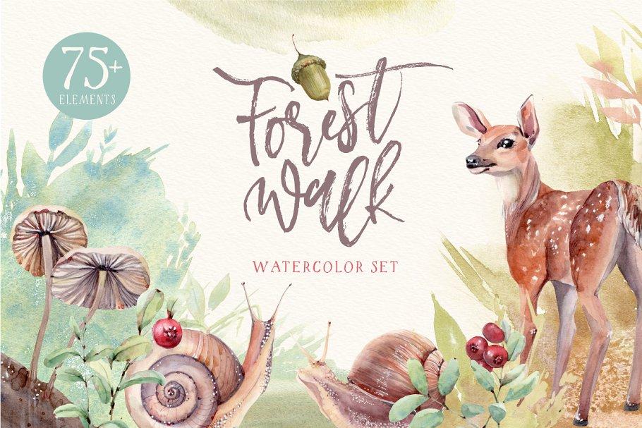 FOREST WALK Watercolor set