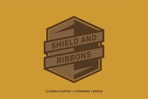 Shield and Ribbons