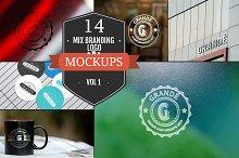 Mix Branding Logo Mockups Vol. 1