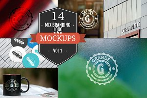 Mix Branding Logo Mockups Vol. 1