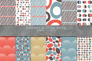 Hand Crafted Dots in Cherry & Dusk