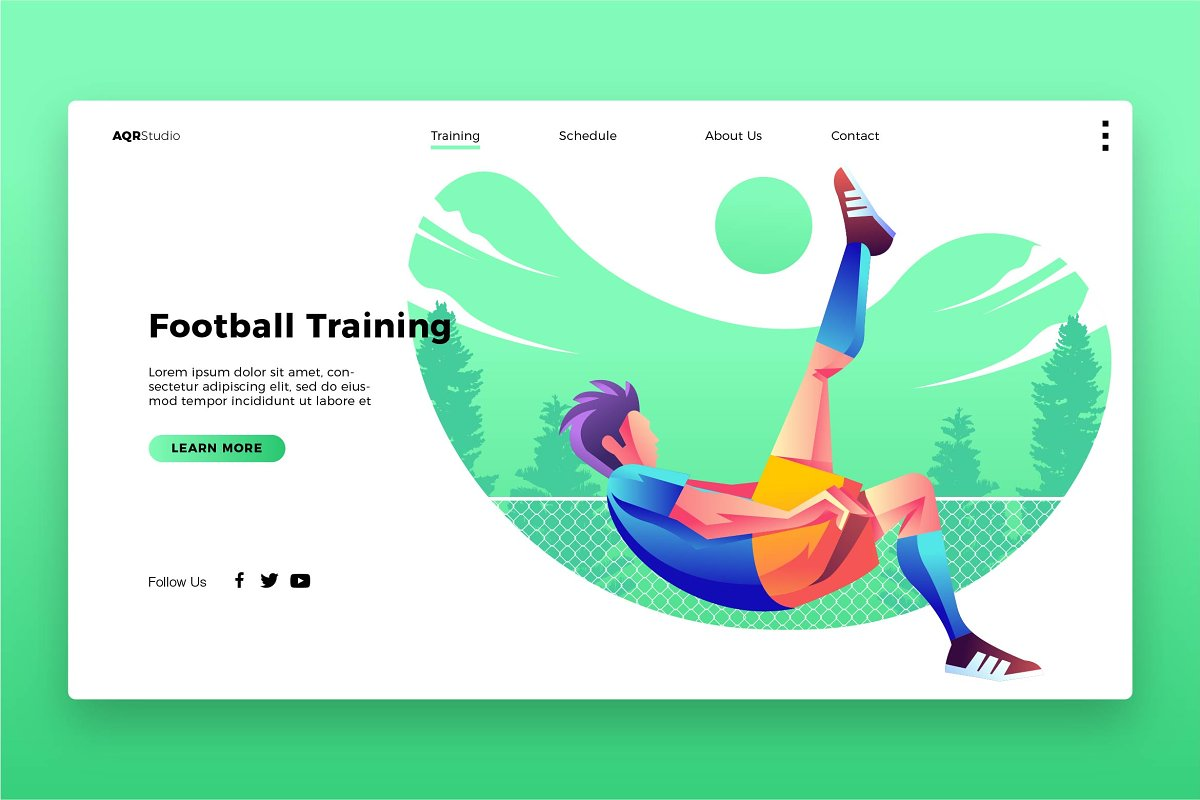 Football Training - Landing Page
