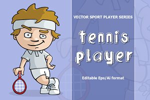 VECTOR tennis player